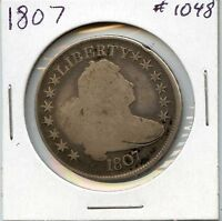 1807 50C DRAPED BUST HALF DOLLAR. CIRCULATED, LOT726