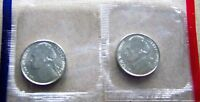 1999 P & D BRILLIANT UNCIRCULATED JEFFERSON NICKELS IN MINT CELLO