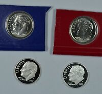 2012 P D S & S ROOSEVELT DIMES MINT CELLO PROOF & SILVER PROOF  SHIPES FREE