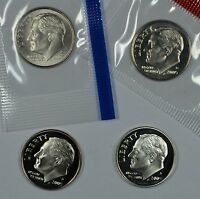 2005 P D S & S ROOSEVELT DIMES MINT CELLO PROOF & SILVER PROOF  SHIPS FREE