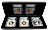 2007-S FIVE COIN PROOF SACAGAWEA & PRESIDENTIAL DOLLAR SET ICG PR-70DCAM