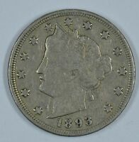 1893 LIBERTY HEAD CIRCULATED NICKEL F/VF DETAILS SEE STORE FOR DISCOUNTS RD56
