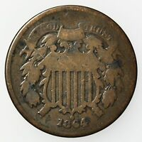 1864 TWO CENT PIECE COPPER COIN [2509.44]