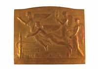 BELGIAN BRONZE ART MEDAL EXPOSITION INTERNATIONAL DE BRUXELLES 1935 BY BONNETA