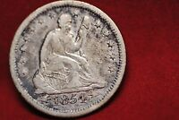 SEATED LIBERTY QUARTER: 1854 O. ARROWS ONLY. FINE OR BETTER