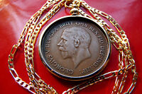 1936 ENGLISH  KING GEORGE V PENNY COIN PENDANT 24