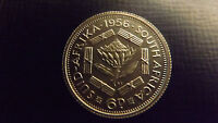 SOUTH AFRICA PROOF SIXPENCE 1956 STUNNING ONLY 1700 MINTAGE