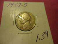 1952 S JEFFERSON NICKEL   CHECK YOUR ALBUM             WE COMBINE SHIPPING