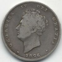 1826 GEORGE IV SILVER ONE SHILLINGCOLLECTORS
