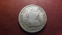 1774 SILVER PERU 8 REALES SPANISH COLONIAL CHARLES III  LIMA MINT