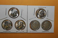 LOWEST MINTED ROOSEVELTS 1955 P 1949 S 1955 D 1955 S 1950 S 1954 S 90 SILVER