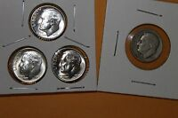 1949 S  &  1954 PDS ROOSEVELT BRILLIANT UNCIRCULATED THREE DIME SET  90 SILVER