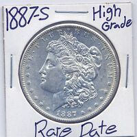 1887-S MORGAN DOLLAR  DATE US MINT SILVER COIN HIGH GRADE