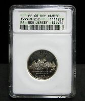 1999 S NEW JERSEY PROOF SILVER QUARTER   ANACS  PF 68 HEAVY CAMEO   1257