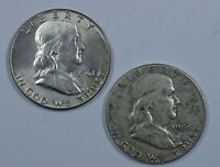 1961 P D FRANKLIN SILVER CIRCULATED HALF DOLLARS SEE STORE FOR DISCOUNT OR43