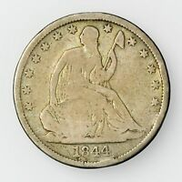 1844 O NEW ORLEANS MINT SEATED LIBERTY HALF DOLLAR LARGE SILVER COIN [906.21]