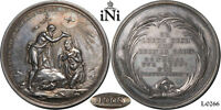 INI GERMANY SILVER BAPTISMAL MEDAL C. 1800 BY LOOS NICE TONE 39 MM. AUNC