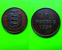 GUERNESEY BAILIWICK UK GB BRITAIN 1 ONE DOUBLE 1830