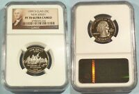1999 S 25C CLAD NGC PF70UCAM NEW JERSEY QUARTER PROOF ULTRA CAMEO PR 70