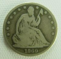 SEATED LIBERTY HALF DOLLAR 1869 S SEATED LIBERTY HALF DOLLAR,1869 S HALF DOLLAR