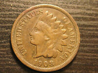 1908 S INDIAN HEAD CENT                                                   72ND