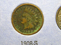 1908 S INDIAN HEAD CENT                                                 17TH