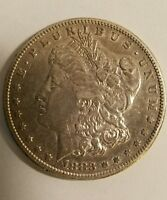 1883 S $1 MORGAN SILVER DOLLAR  IN THE HIGHER QUALITY WANTED