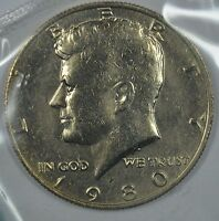 1980 P KENNEDY HALF DOLLAR IN MINT CELLO SEE STORE FOR DISCOUNTS  RD27