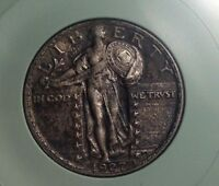 1927P STANDING LIBERTY .25C   EXTRA FINE /AU  TAKE A LOOK