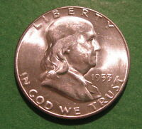 CHOICE BU 1953 S FRANKLIN HALF DOLLAR. UNCIRCULATED MS