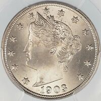 1903 LIBERTY NICKEL PCGS MINT STATE 64 CERTIFIED