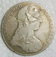 NEJD & HEJAZ COUNTERSTAMP TRADE DOLLAR STRUCK ON AUSTRIA MARIA THERESA TALER