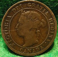 1897 HIGH GRADE CANADA LARGE CENT VICTORIA COIN CANADIAN