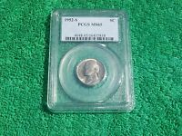 1952 S JEFFERSON NICKEL PCGS MS 65 BUSINESS STRIKE          FREE US SHIPPING