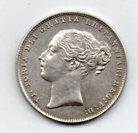 1865 SHILLING VICTORIA YOUNG HEAD TYPE A4 DIE NO 2 HIGH GRADE