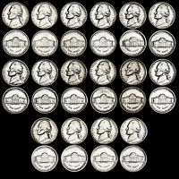 1980 1981 1984 1989 P,D JEFFERSON NICKELS   GEM BU FROM MINT CELLO