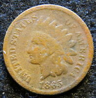 1865 INDIAN HEAD PENNY ONE CENT 1865 2ND WIN SHIPS FREE 2436