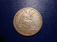 1860S SEATED LIBERTY HALF DOLLAR VF