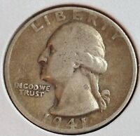 1941 S 25C WASHINGTON QUARTER