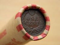 EXTRA FINE  1908 S OR 1909 S INDIAN HEAD CENT & EXTRA FINE  TONED INDIAN HEAD - ESTATE ROLL
