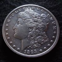 1893-O MORGAN SILVER DOLLAR - CHOICE VF/EXTRA FINE  DETAILS KEY FROM THE NEW ORLEANS MINT