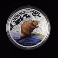 2015 $20 FINE SILVER COIN BEAVER AT WORK NOT SALE TAX
