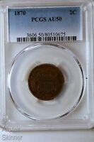 1870 TWO CENT PIECE PCGS AU50 BETTER DATE