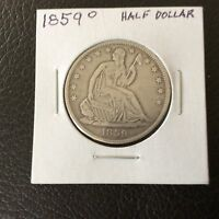 1859 O LIBERTY SEATED SILVER HALF D