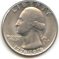 USA 1776 1976D WASHINGTON QUARTER 1776 1976 D 25 CENTS AMERICAN EXACT COIN