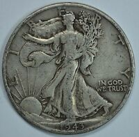 1943 D WALKING LIBERTY SILVER HALF DOLLAR SEE STORE FOR DISCOUNTS YE17
