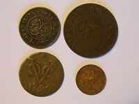 NETHERLANDS EAST INDIES COPPER COINS 1790 1902 4 COINS FREE FAST SHIP