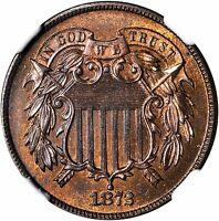 1872 TWO CENT PIECE NGC PR-65 RB SHARP AND PRISTINE-LOVELY LILAC COPPER PATINA