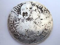 MEXICO 1800S COIN   8 REALES   CAROLUS IIII   CHOP MARKS