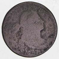 1797 DRAPED BUST LARGE ONE CENT PENNY UNITED STATES ANTIQUE ONE CENT COIN